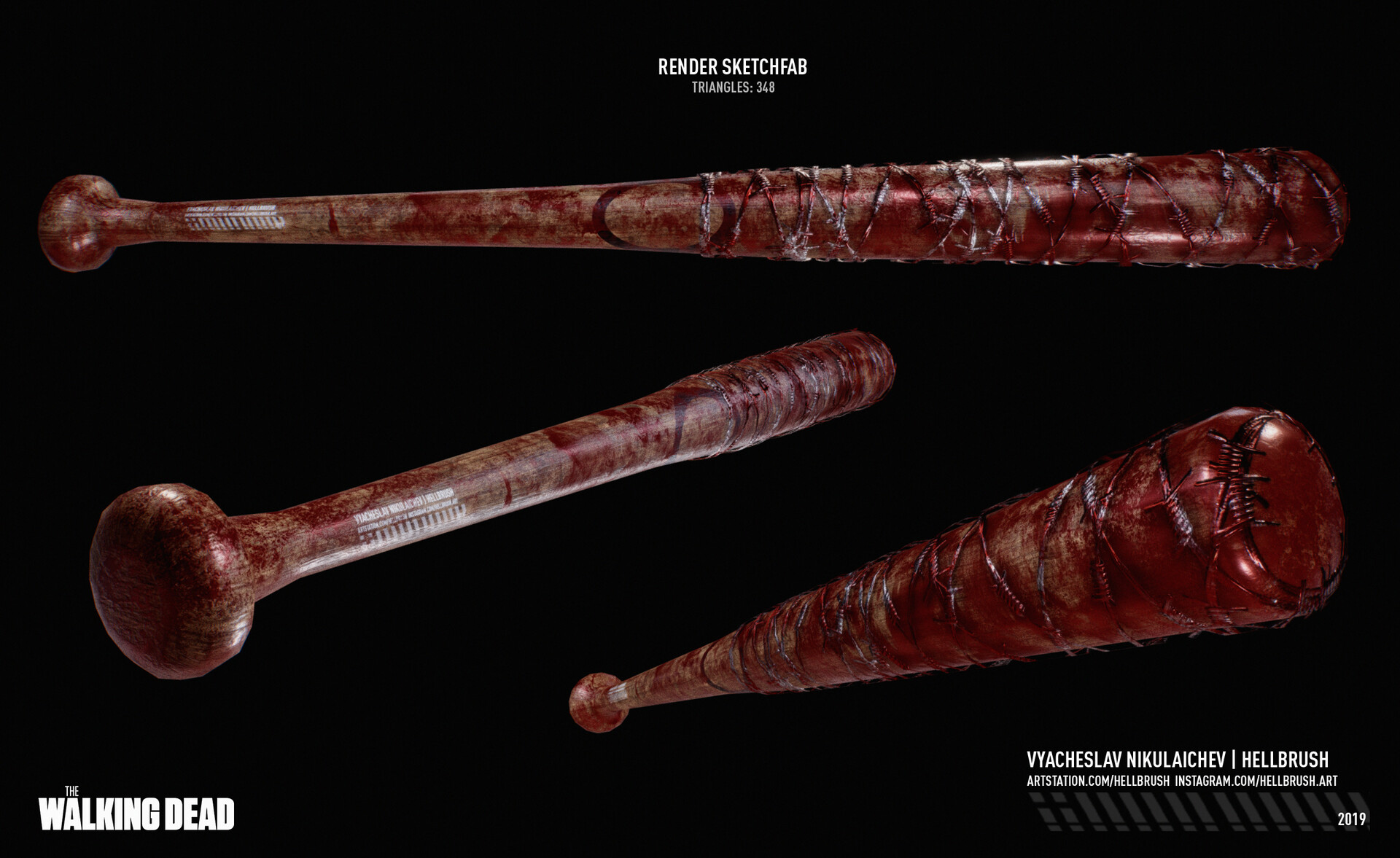 ArtStation - The Walking Dead: Negan's Bat Lucille (fan
