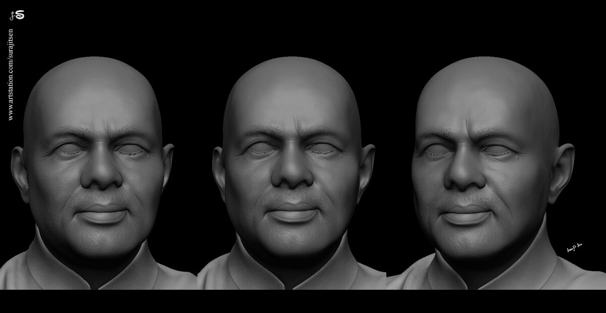 """""""NaMo"""" I tried to create a likeness CG Character of our Respected Prime Minister."""