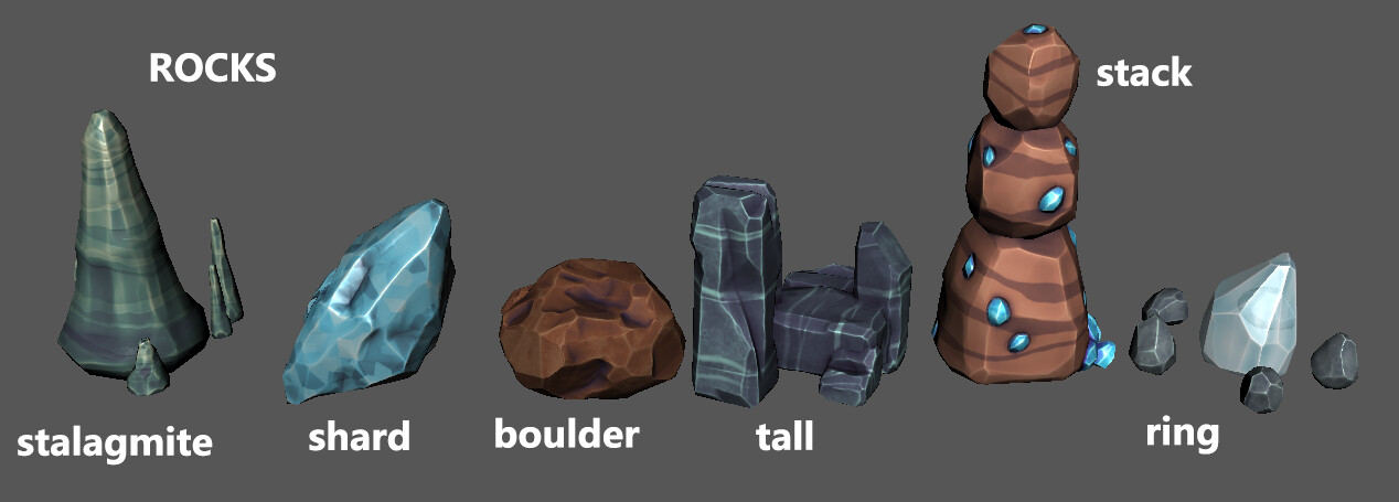 Surface Resources - Rocks and Crystals