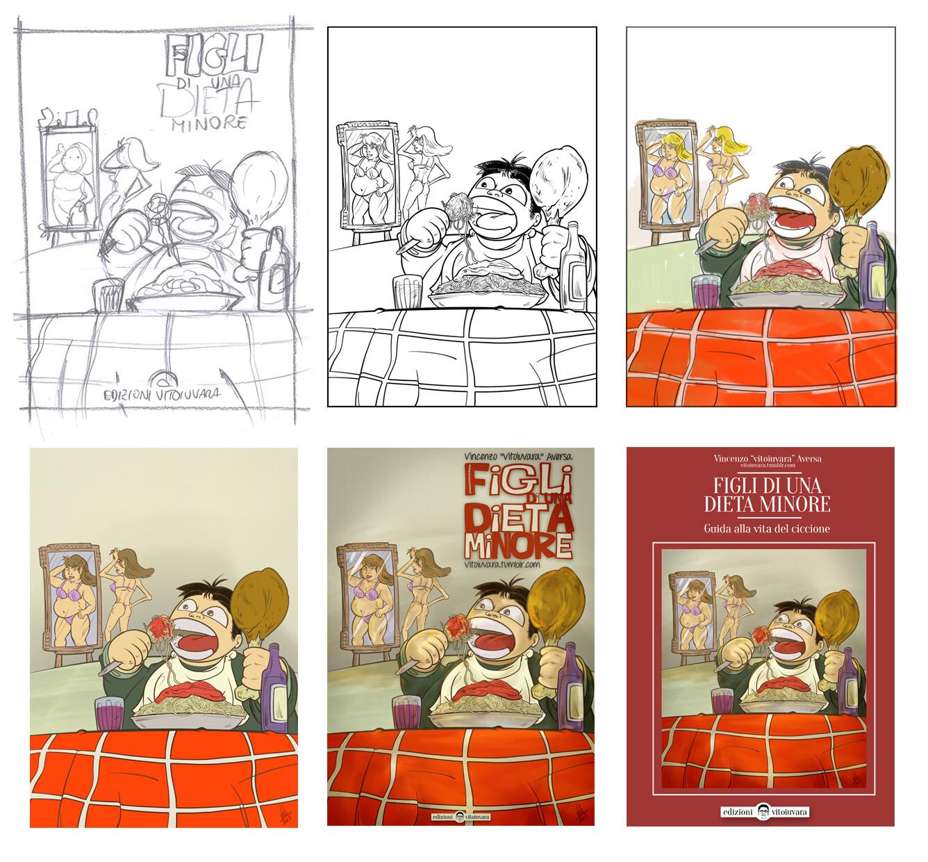 """""""Figli di una dieta minore"""" Drawing Process"""