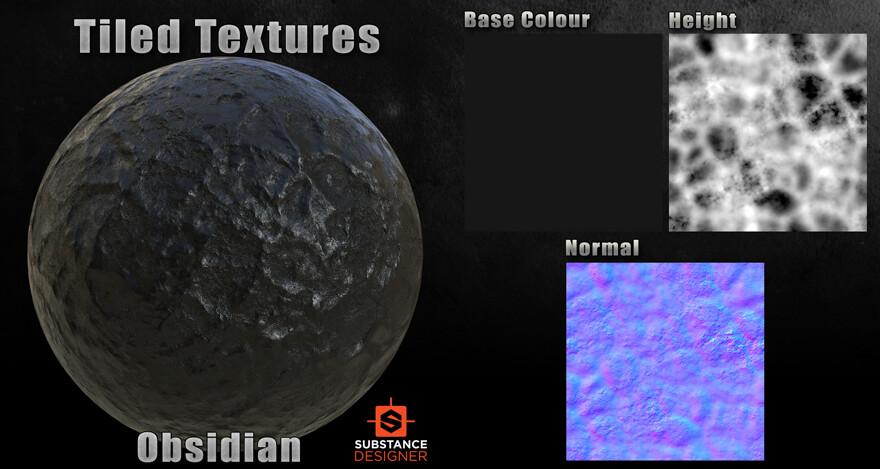 Substance Designer - Obsidian Material