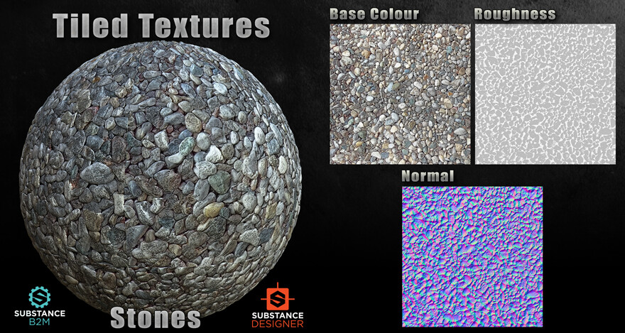 B2M Substance Material - Stones