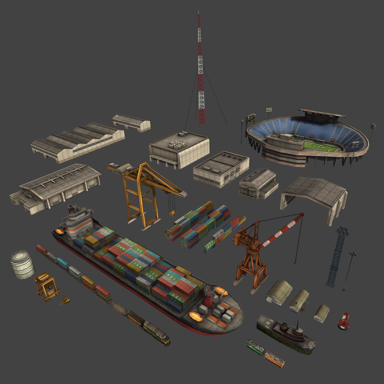 Shipyard assets.
