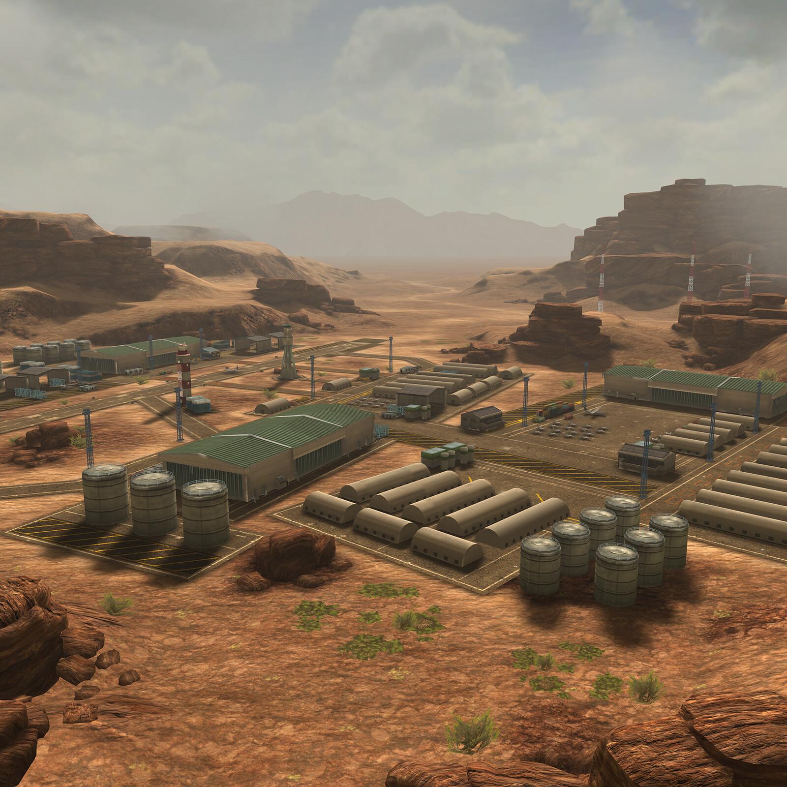 Desert Military base.