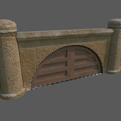 Andrew wilkins vault city tileset sandcrete gate 2nd texture pass