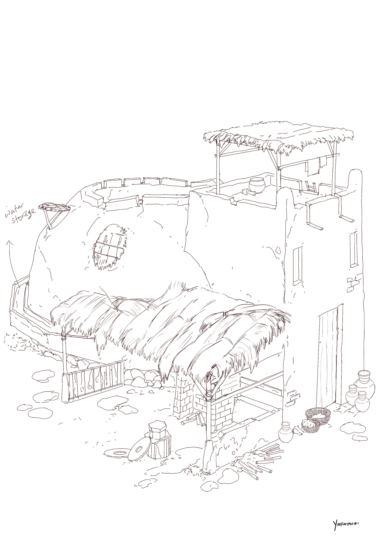 Harrison yinfaowei brocolli house generic 1 line art a