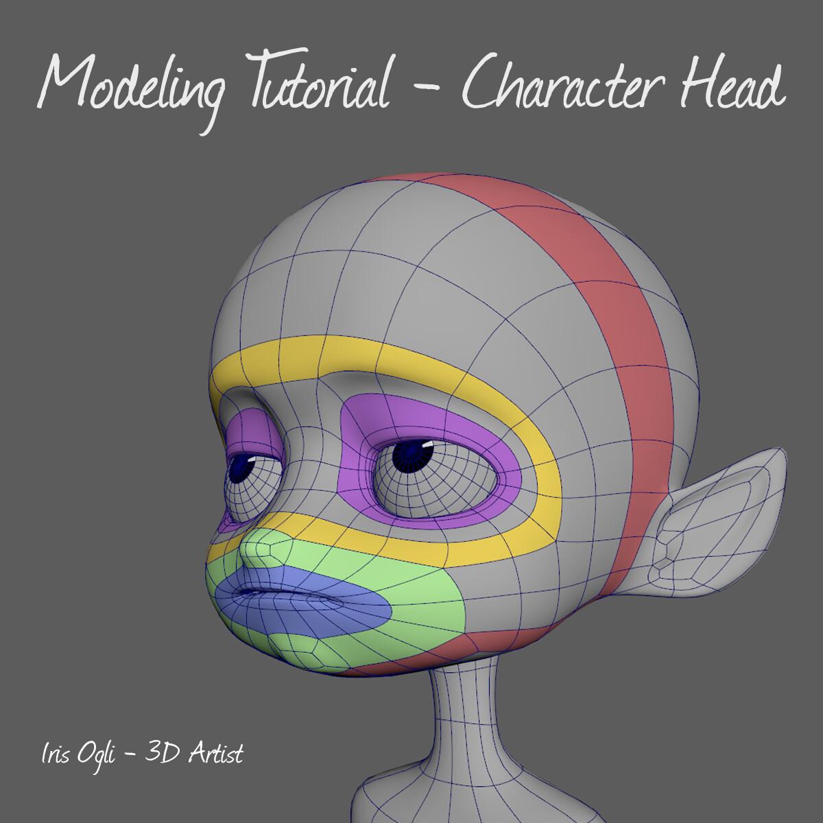 ArtStation - 3D Modeling Tutorial -Modeling Character head
