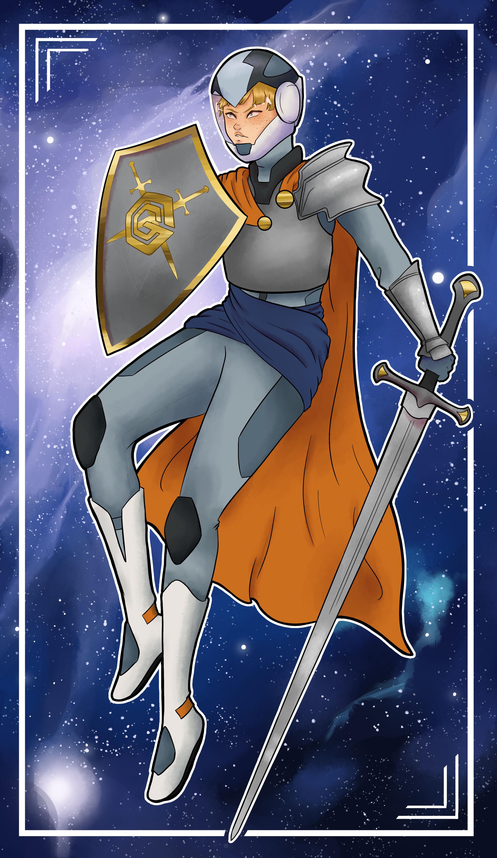 ArtStation - Knight of Swords, Mel Leonard