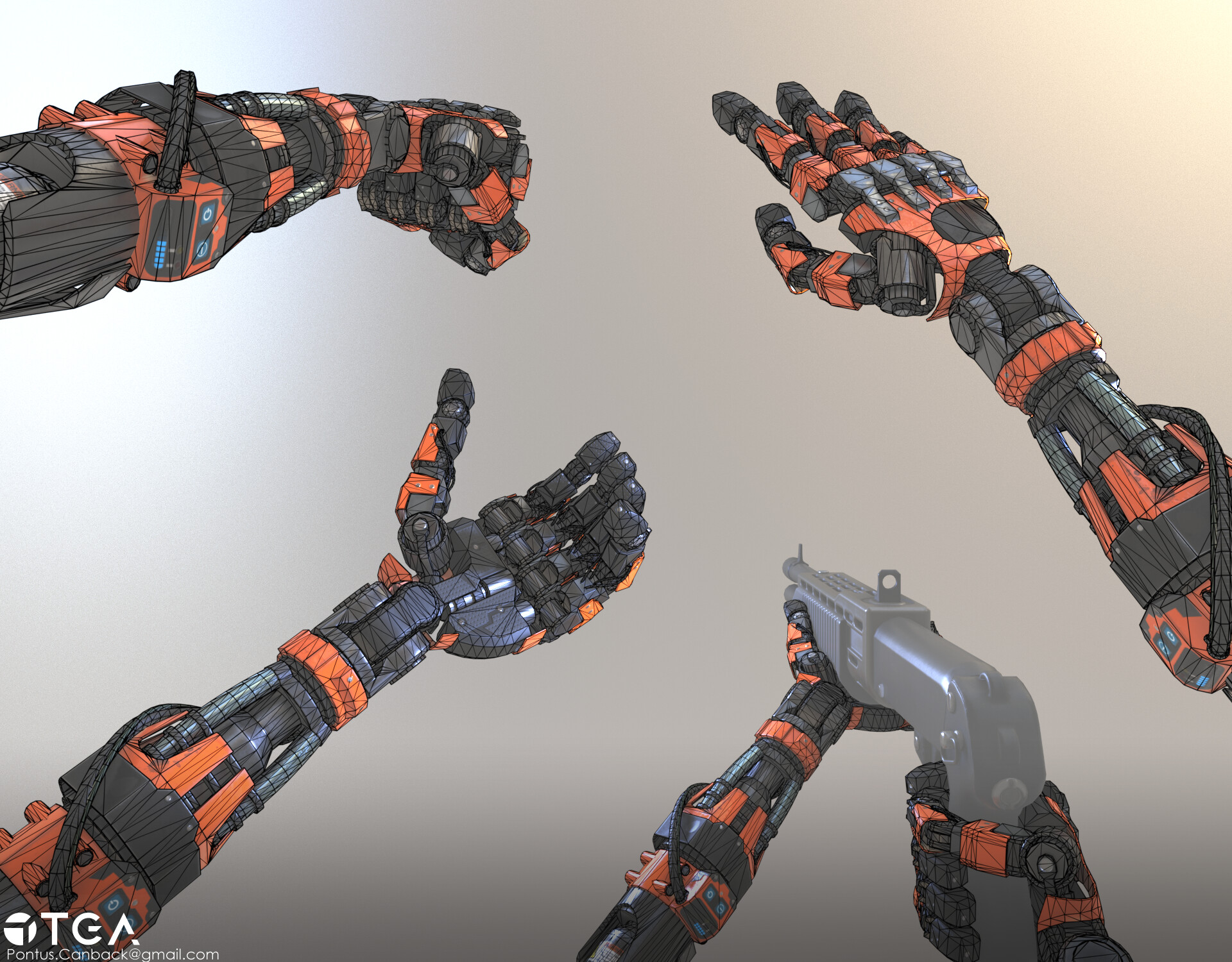Pontus canback robotarm wireframe