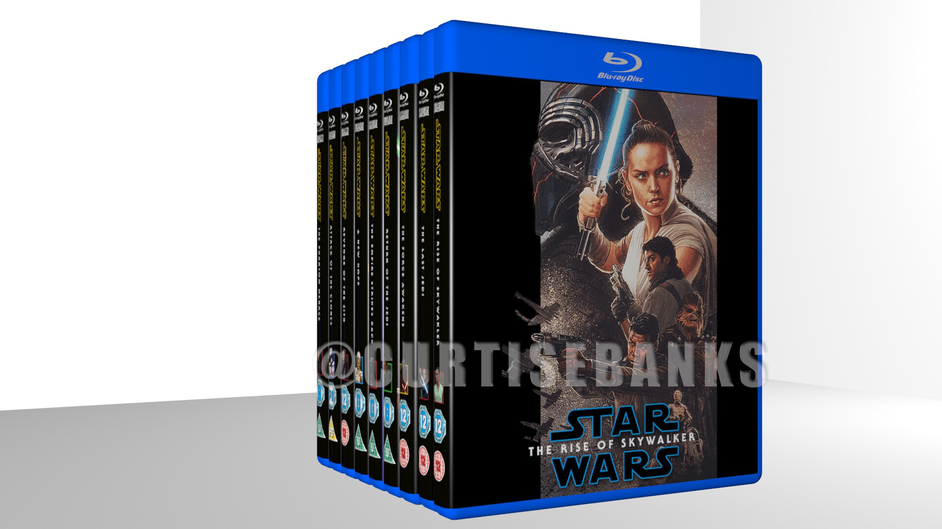 Artstation Star Wars The Rise Of Skywalker Blu Ray Cover Curtis Ebanks