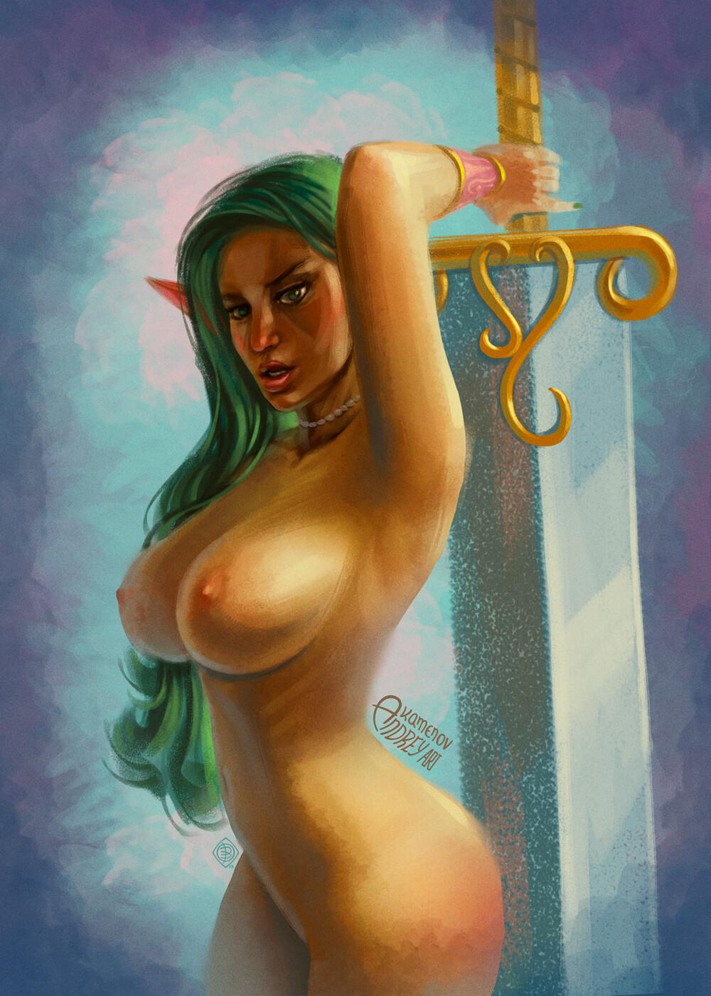 Andrey kamenov elf big sword 04