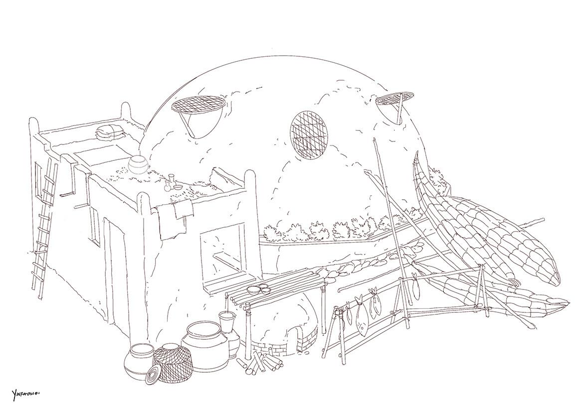 Harrison yinfaowei brocolli house fishing line art