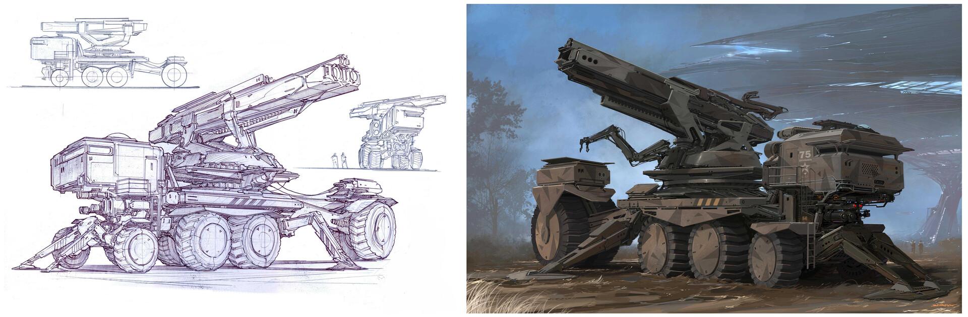 Alejandro burdisio concepts e liustra howitzer artstation