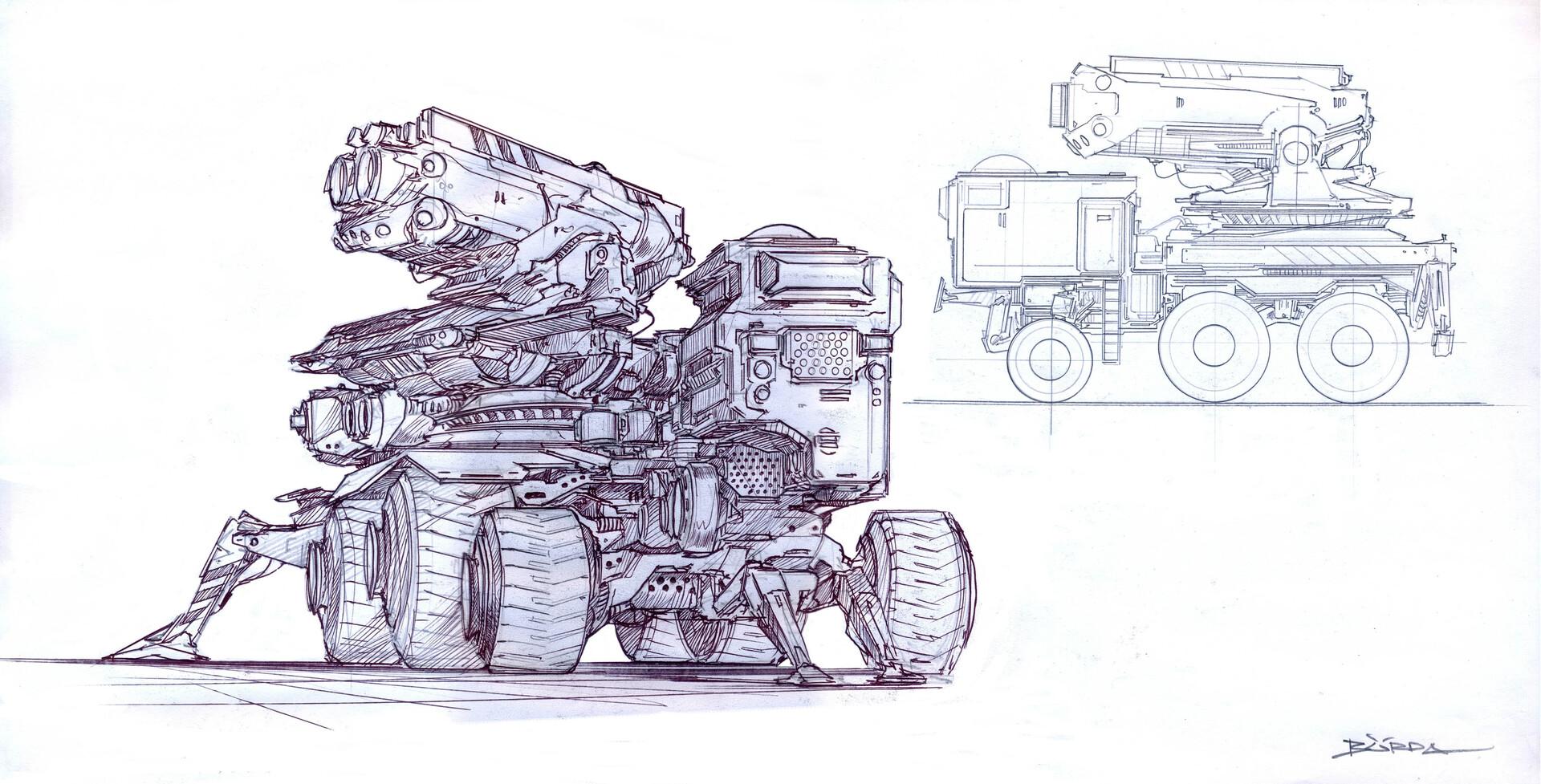 Alejandro burdisio vehiculos conceptos lapiz3 artstation