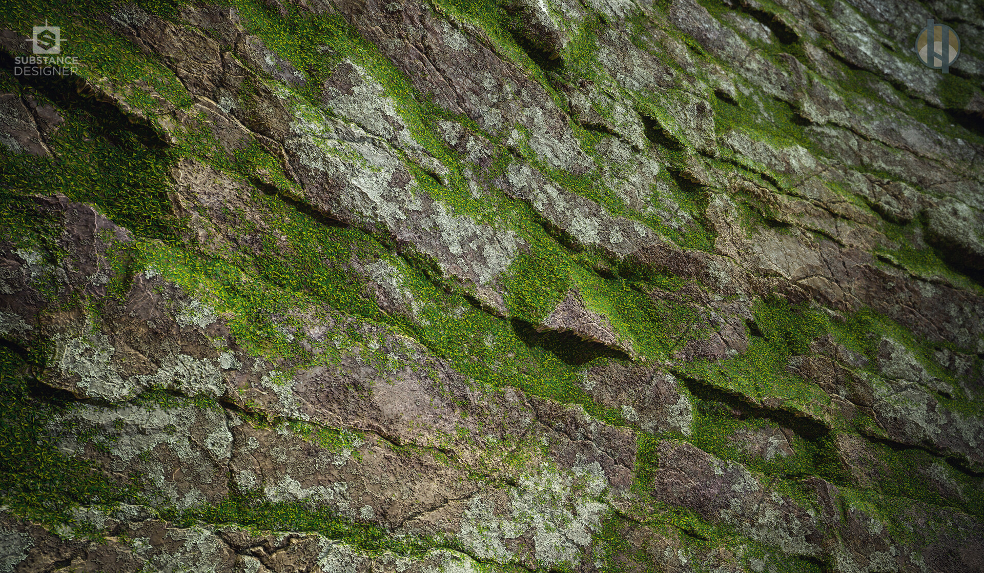 Justin hrala cliff rock jagged mossy wide