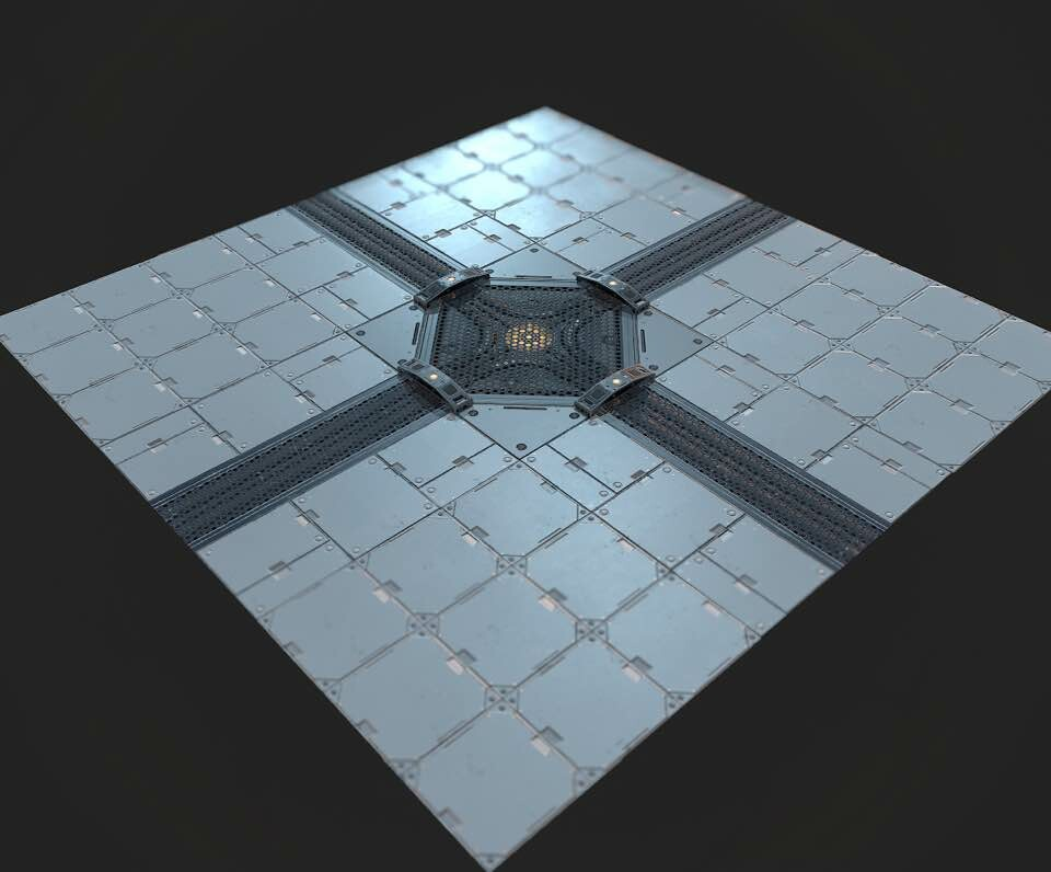 Sci-Fi modular floor composition