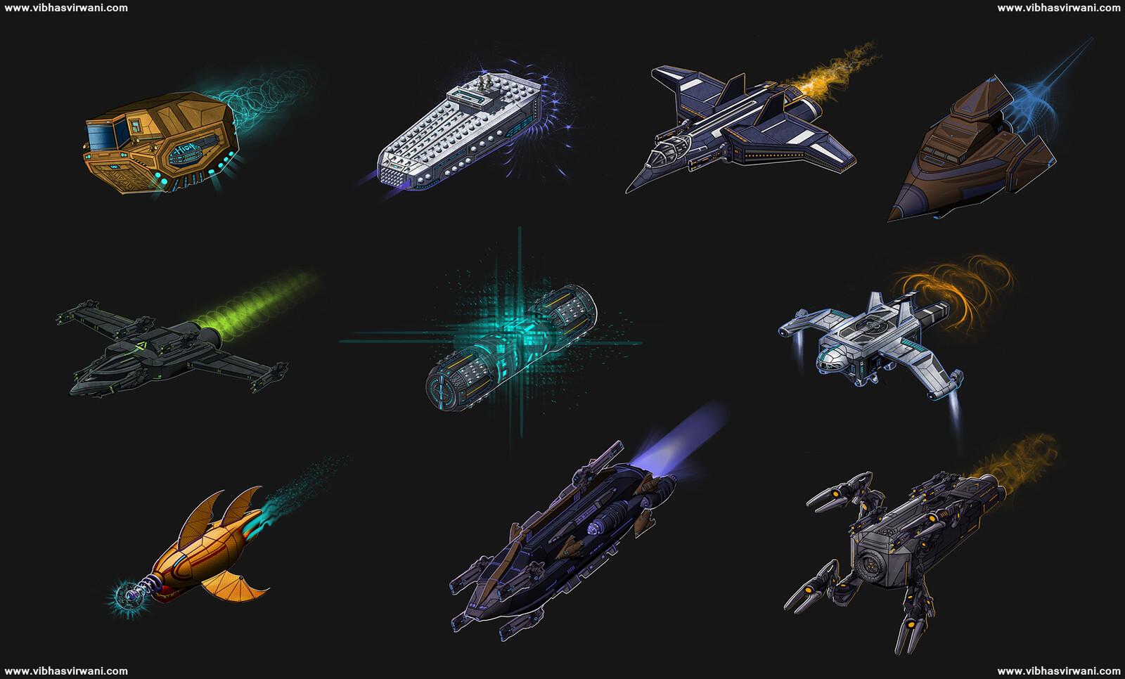 Spaceship concept art for Astounding futures Vol. 1