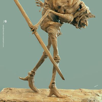 Surajit sen hunchback witch digital sculpture surajitsen april2019