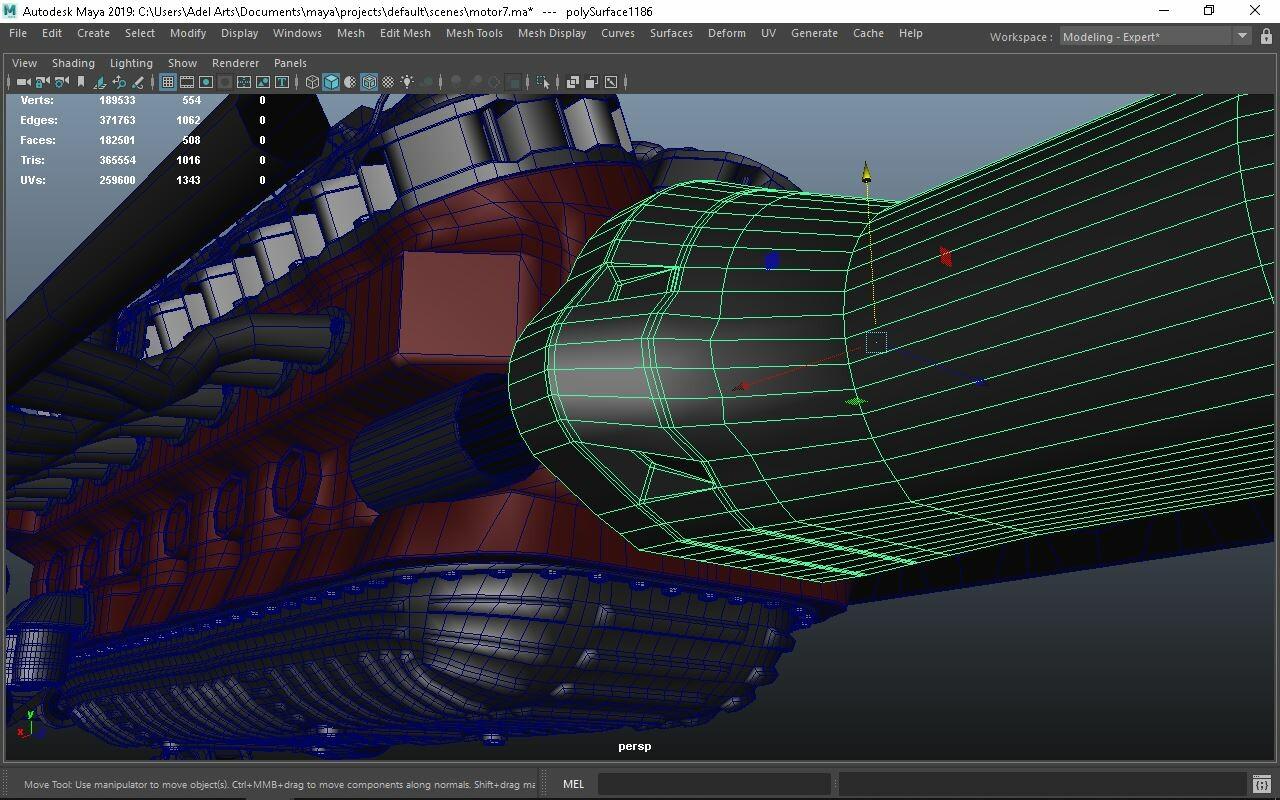 ArtStation - Fantasy Car - Motor finishing, Adel Arts