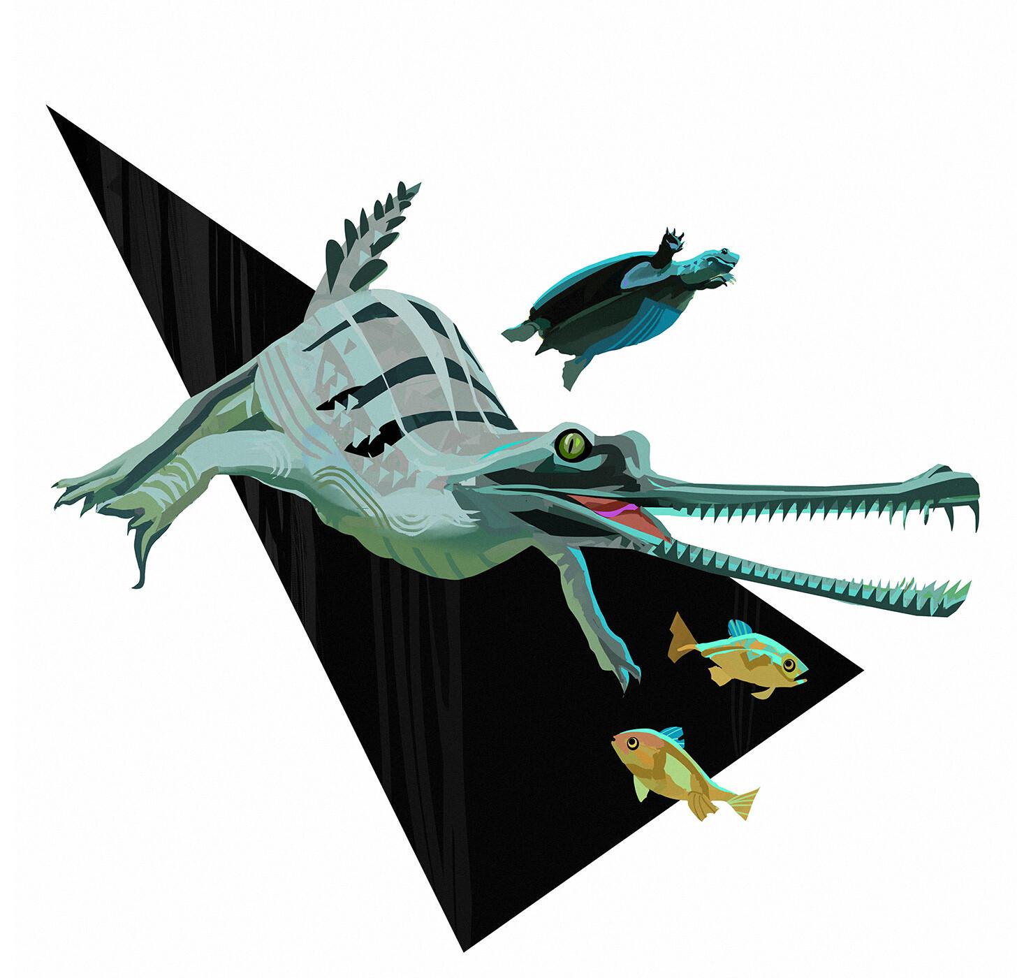 Hugo puzzuoli gharial small