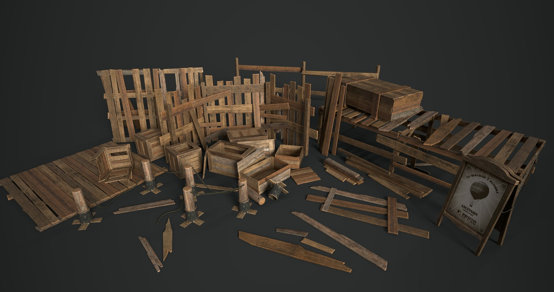 Wood crate pack