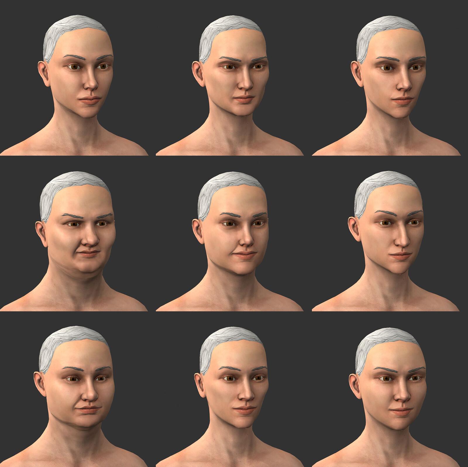 Woman Head Variations