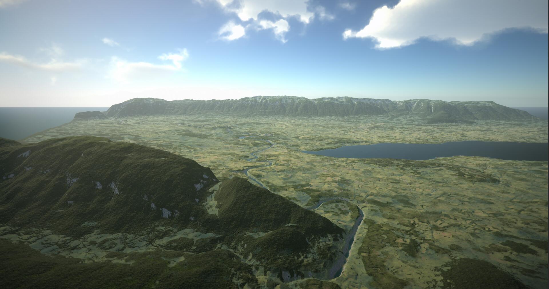 Geneva 1850 landscape Creation