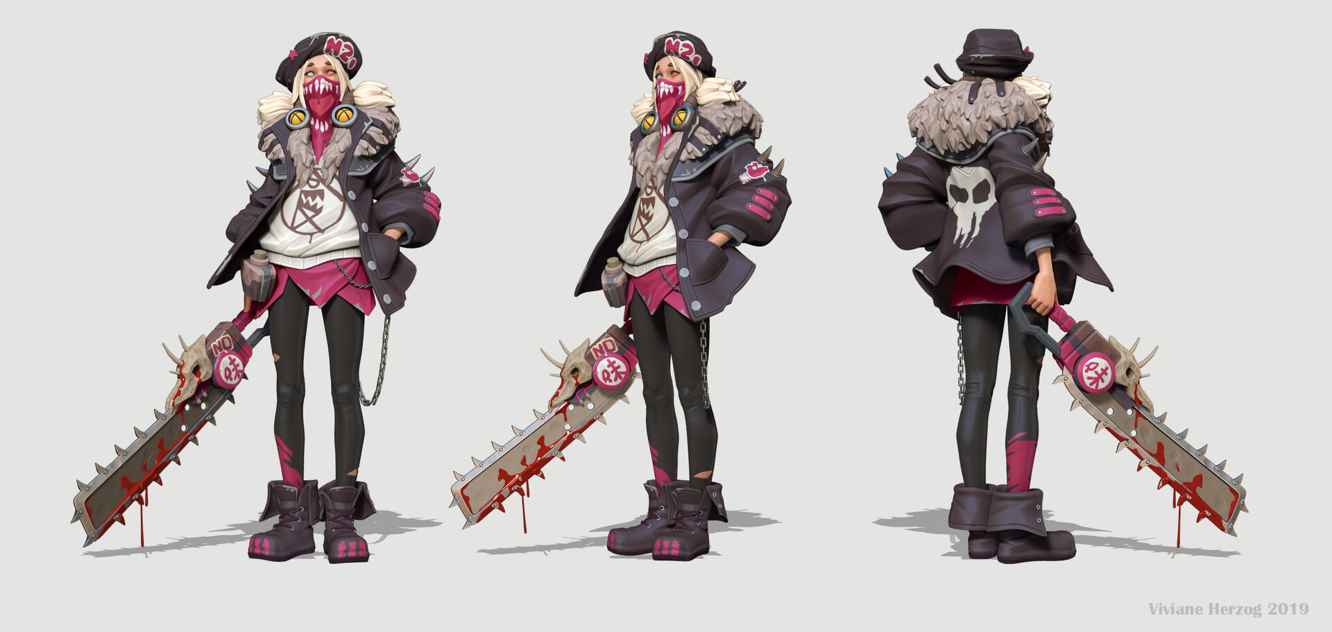 Viviane herzog chainsaw zb color