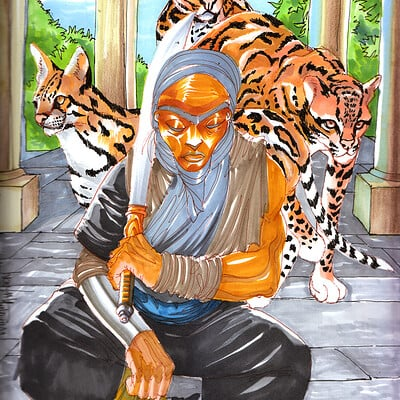 Afromation art ocelot