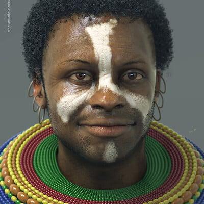 Surajit sen akwas african tribal cg character surajitsen april2019