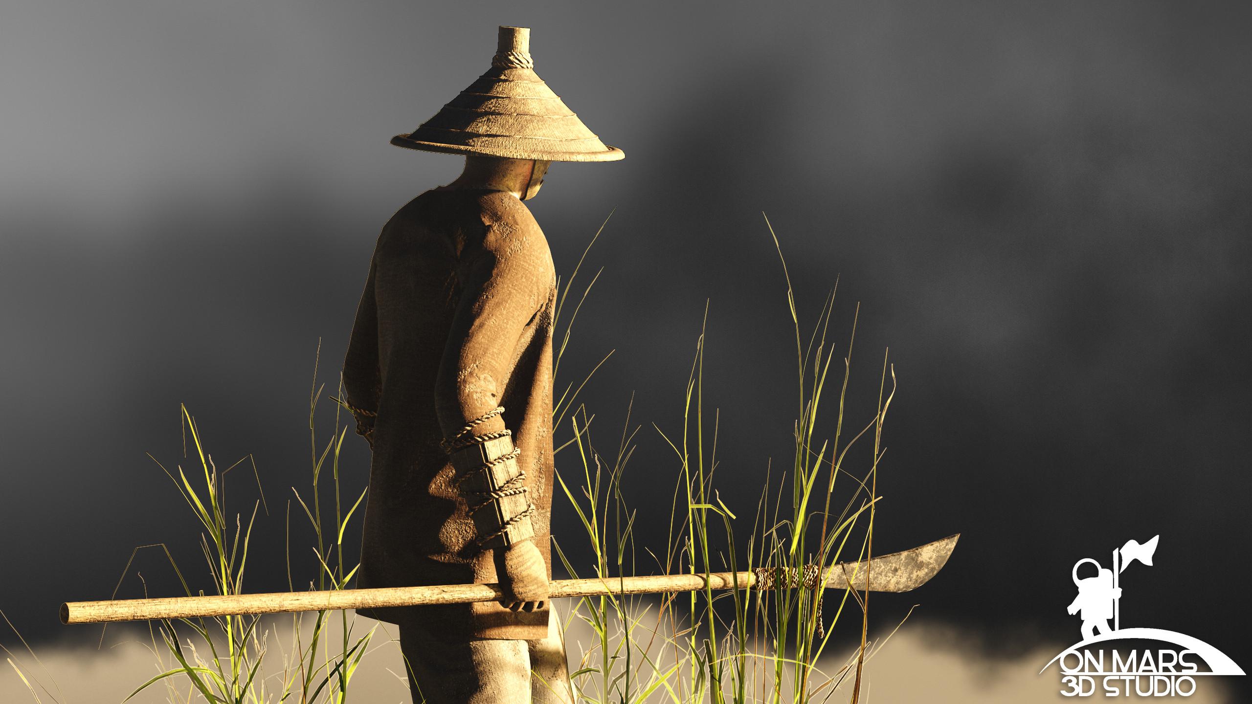 Rice Farmer Concept  View 2