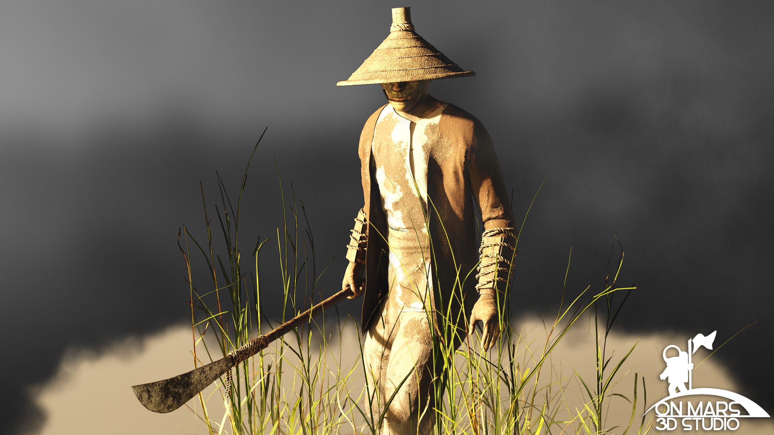 Rice Farmer Concept  View 3