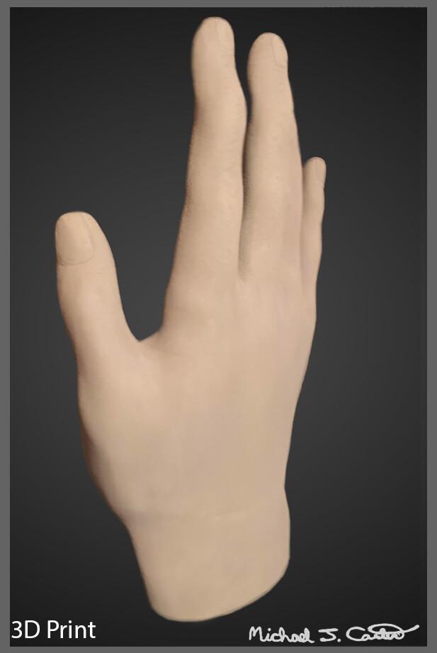 Michael jake carter human hand side