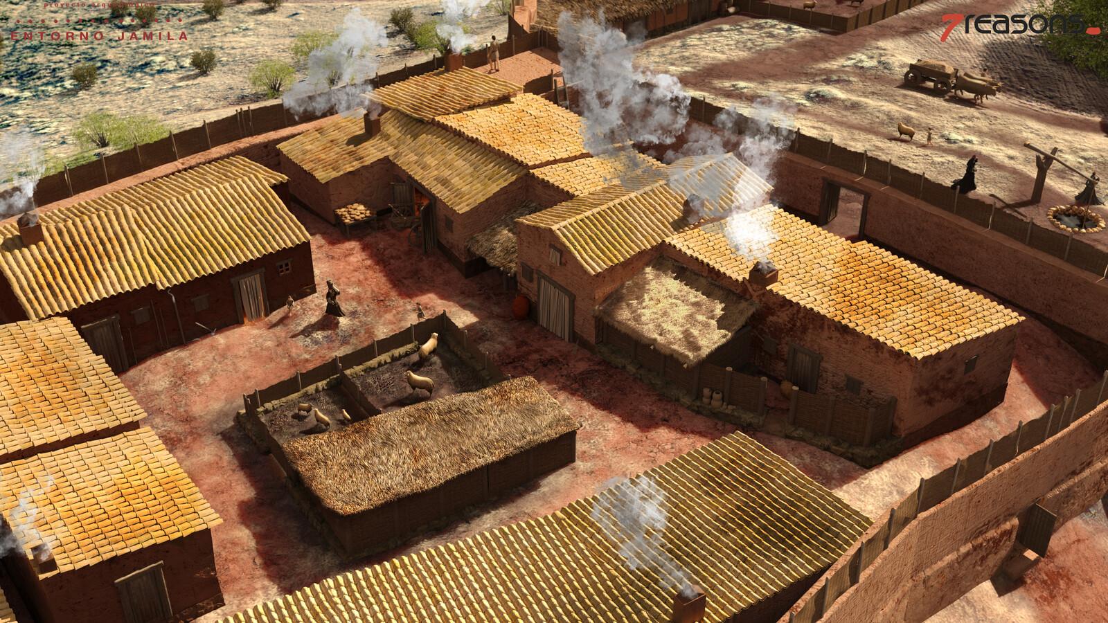 Aldea de Peñaflor   Detalle zona viviendas