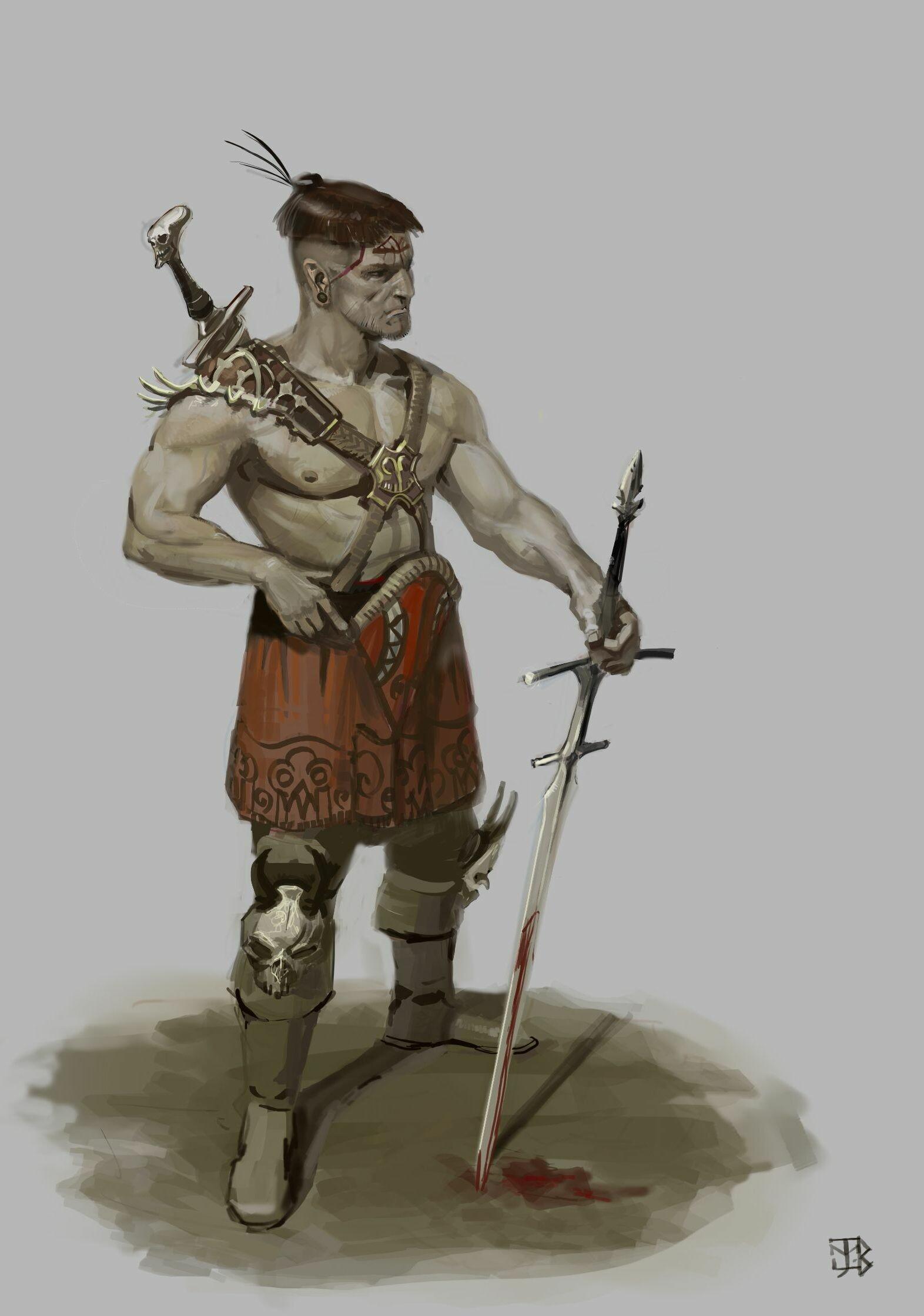 Juan miguel lopez barea barbarian sketch 2