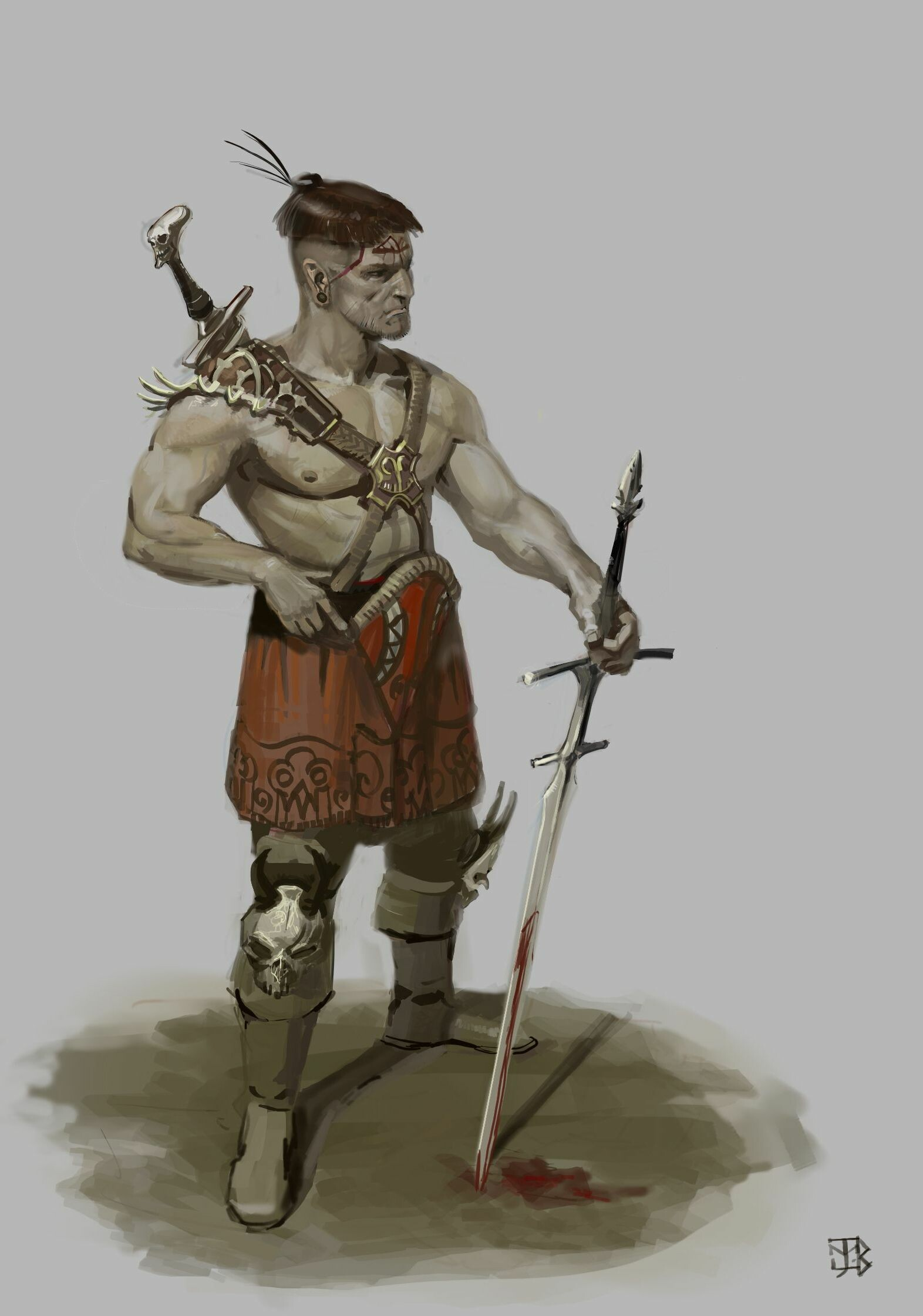 Barbarian mercenary.