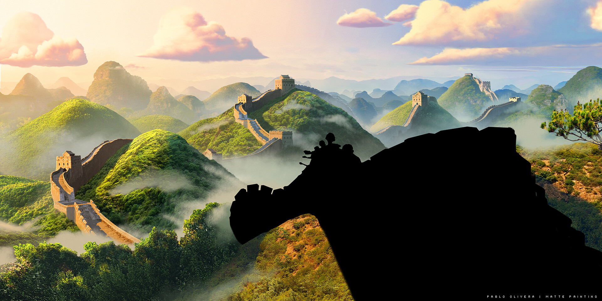 Pablo olivera lil dicky earth china mattepainting