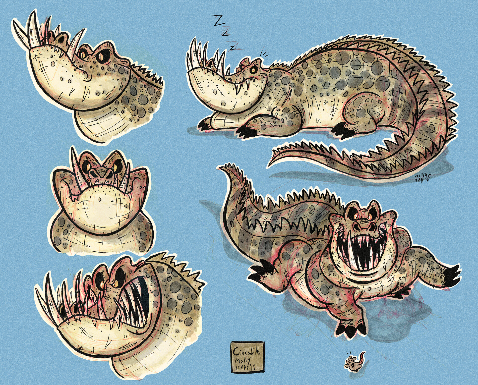"""Crocodile Character Concepts""