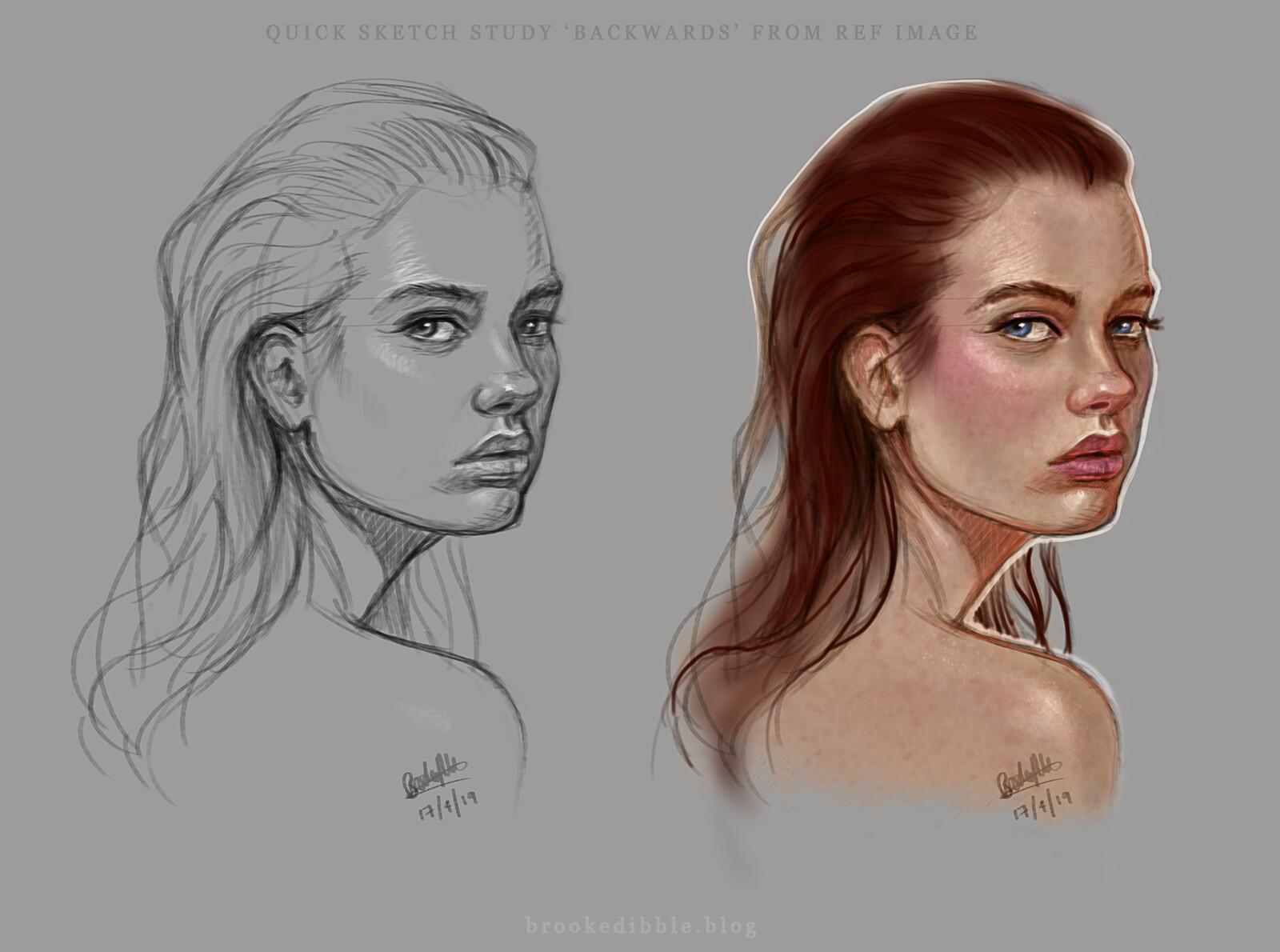 Quick face studies - April '19