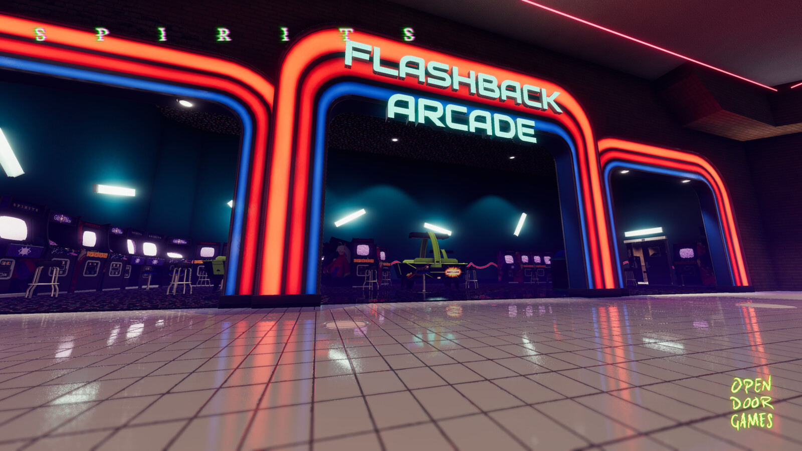 Flashback Arcade is designed as a world of its own, with easy access for the boss it drives combat while delivering a lot of unique atmosphere.