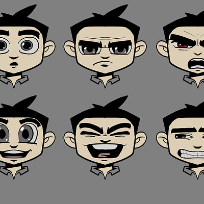 Michael davis cartoon expressions