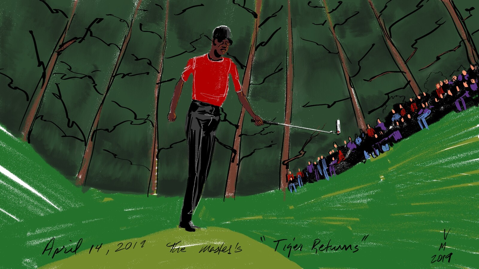 The Tiger returns. 2019 Masters