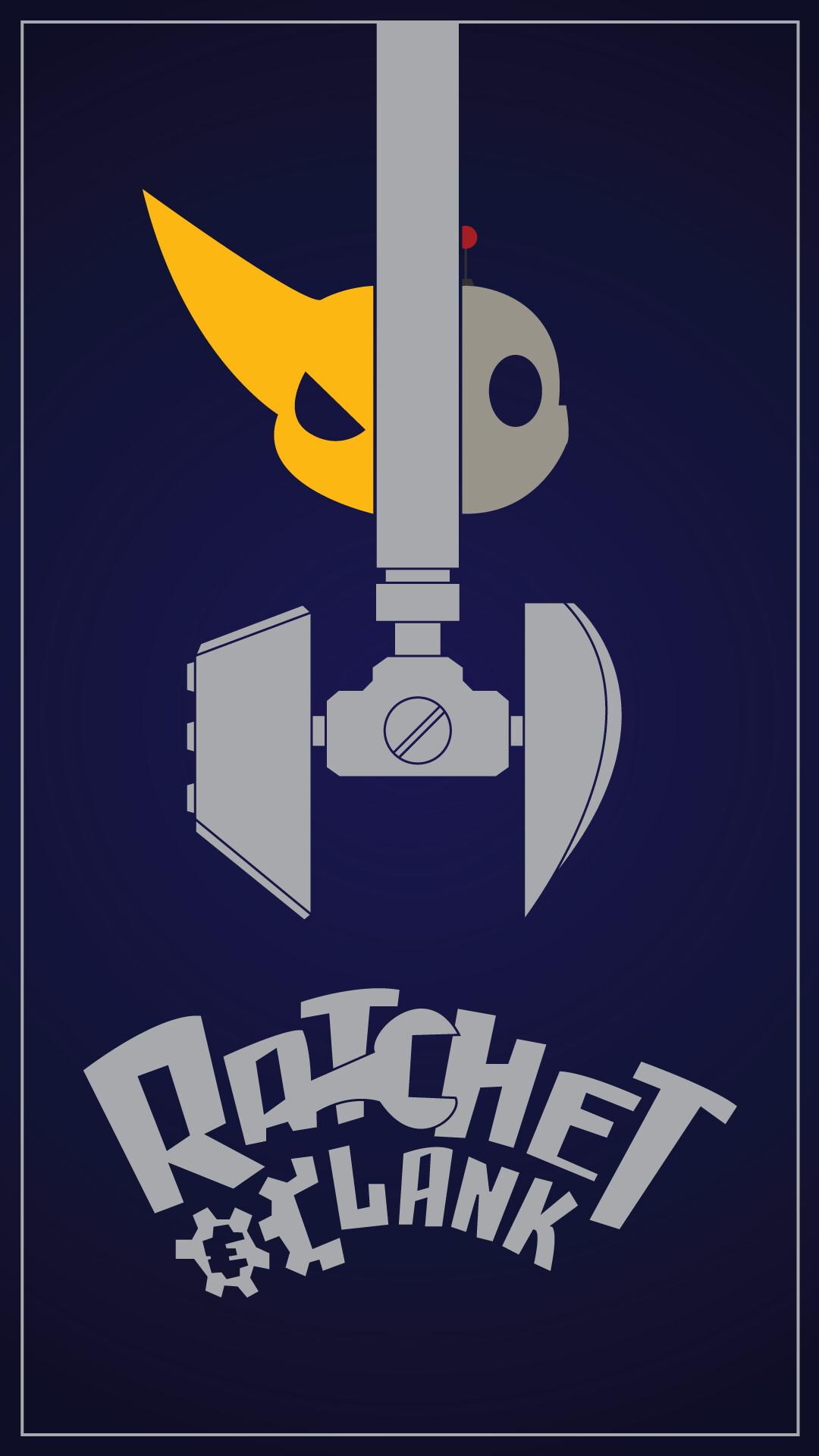 Ratchet Clank Minimalist Poster By Me Ratchetandclank
