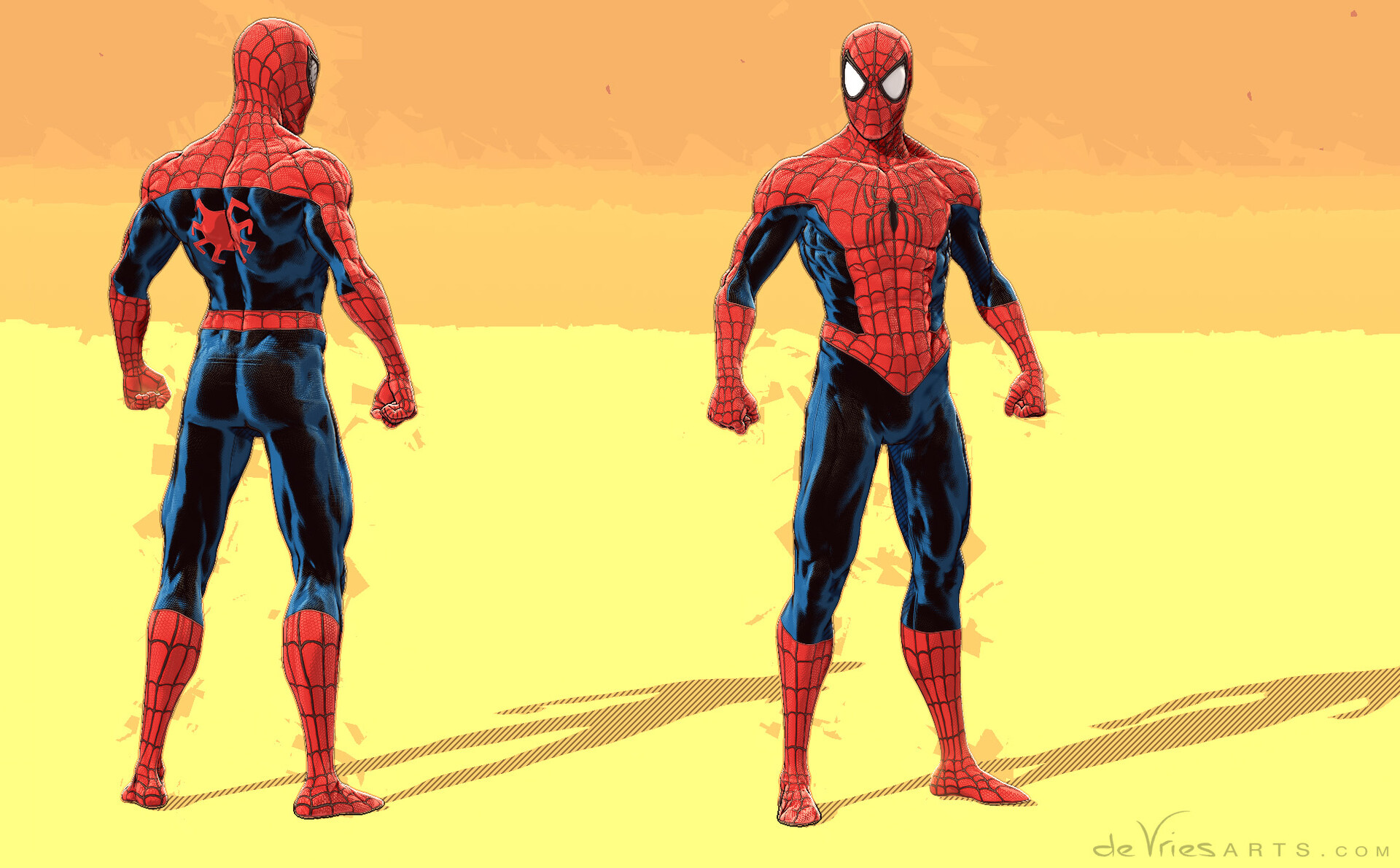 Thijs de vries standing spiderman thijsdevries devriesarts