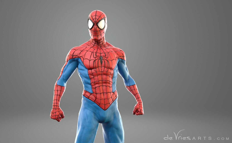 Thijs de vries closecolor spiderman thijsdevries devriesarts