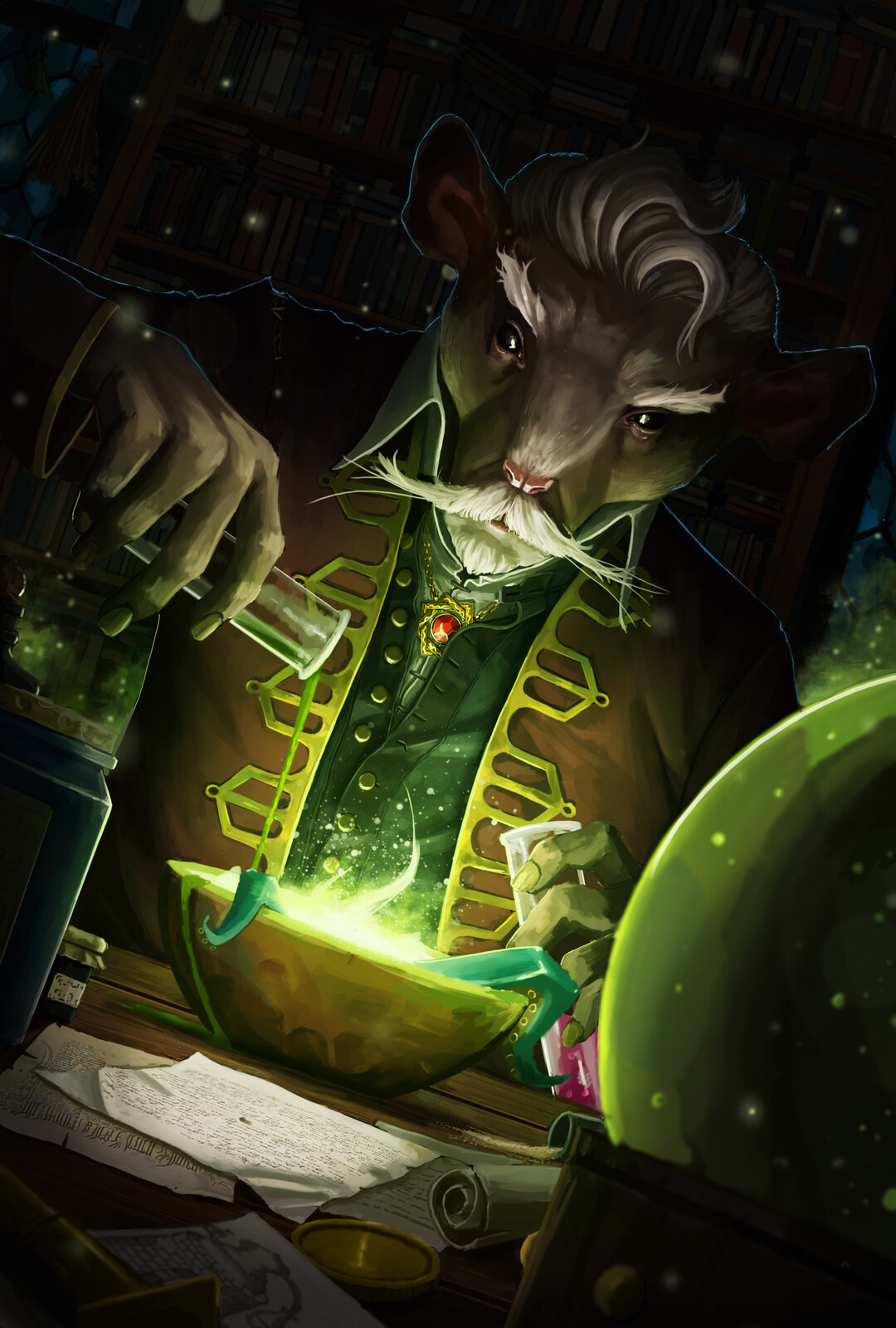 Mouse Alchemist Card Art