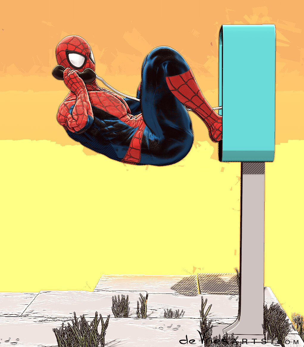 Thijs de vries spideyphone2 spiderman thijsdevries devriesarts