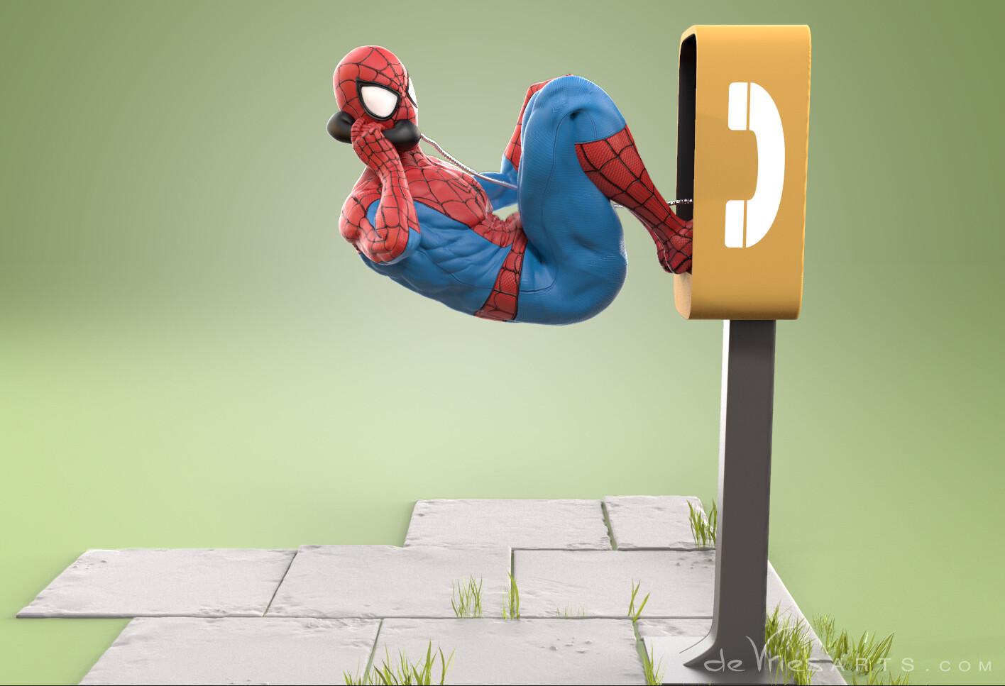 Thijs de vries phonecall2 spiderman thijsdevries devriesarts