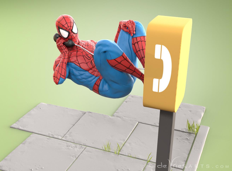Thijs de vries phonecall3 spiderman thijsdevries devriesarts