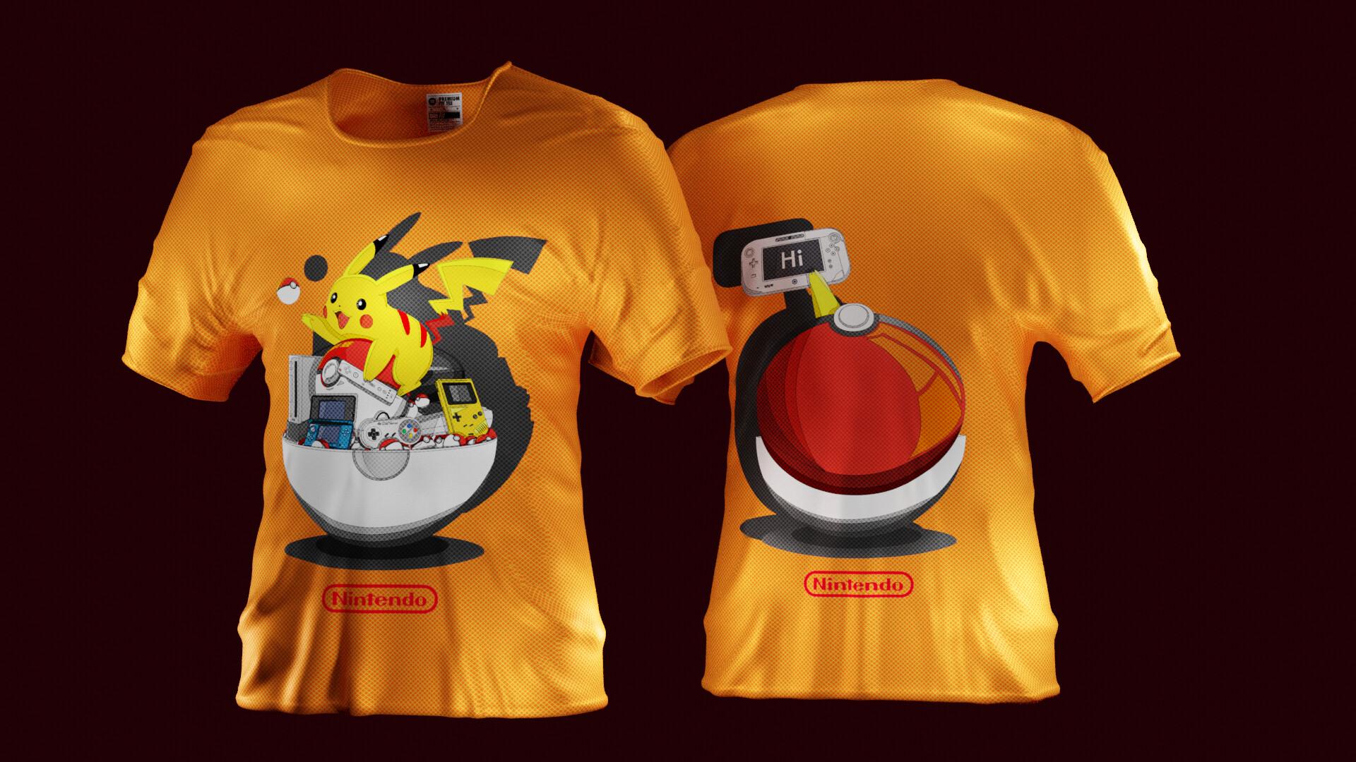 f831a786d ArtStation - Pikachu and nintendo's console, aseuraf x